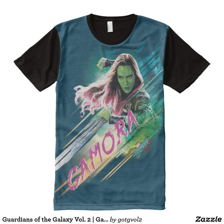 Guardians of the Galaxy Vol. 2 | Gamora In Battle All-Over-Print T-Shirt