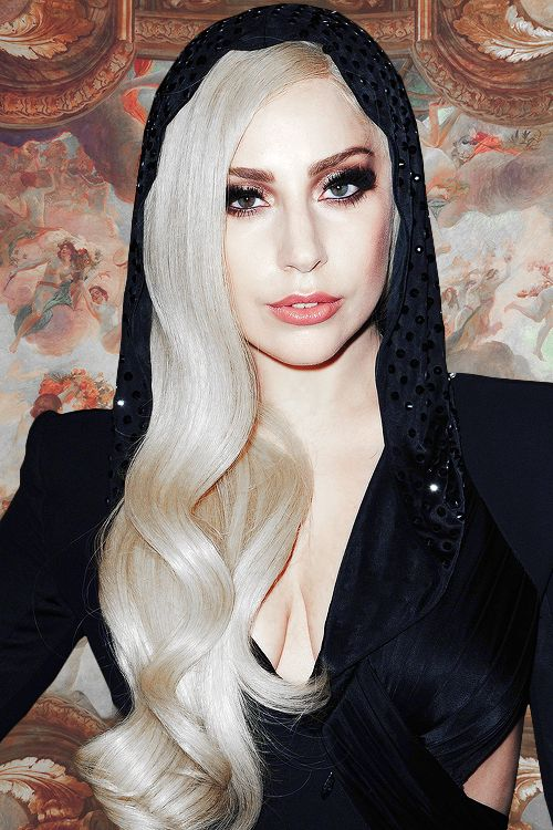 Lady Gaga at Versace's showcase in Paris