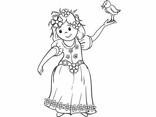 Kolorowanka Wiosenne Kwiaty Art Humanoid Sketch Fictional Characters