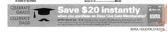 XBOX Live GOLD One year Membership $20 off instant at B&M SHOP RITE (now til 6/18) #LavaHot http://www.lavahotdeals.com/us/cheap/xbox-live-gold-year-membership-20-instant-bm/96264