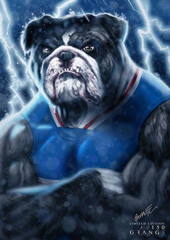 'The Tough Western Bulldog' Print By Grange Wallis