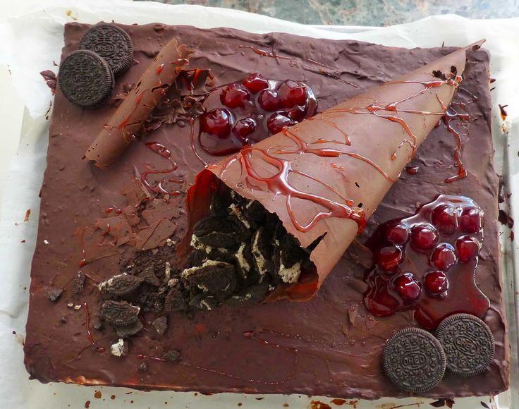 Έμπνευση και Δημιουργία, Chocolate Cake with oreo and Cherry