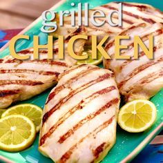 Ree marinates chicken breasts for roughly 24 hours in a simple yet fragrant mixture of olive oil, lemon juice, Dijon, honey and salt. This juicy Grilled Chicken recipe will be a hit at your next cookout.