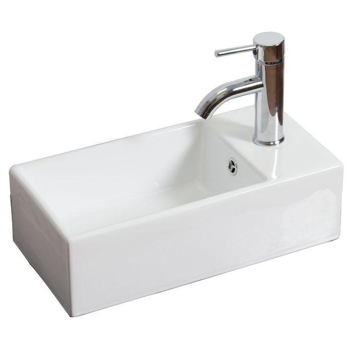 Ceramic Vessel Bathroom Sink With