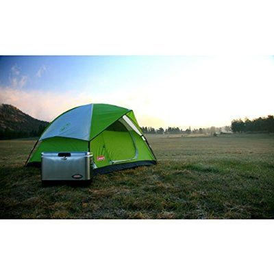 If you like your comforts you can easily fit two queen size airbeds into this 6 person Coleman Sundome Tent,