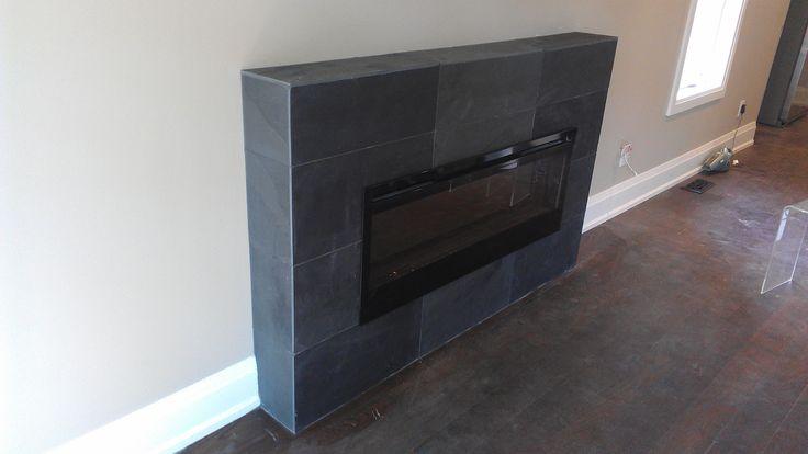 Fireplace Surround Using Slate Tiles Tiles My Work Pinterest Slate Slate Tiles And