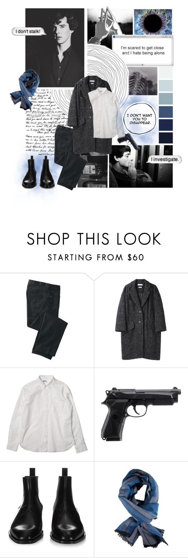 """""""I don't stalk! I investigate."""" by drinkdionysus ❤ liked on Polyvore featuring TravelSmith, INDIE HAIR, Étoile Isabel Marant, Beretta, Givenchy, DIBI, men's fashion and menswear"""
