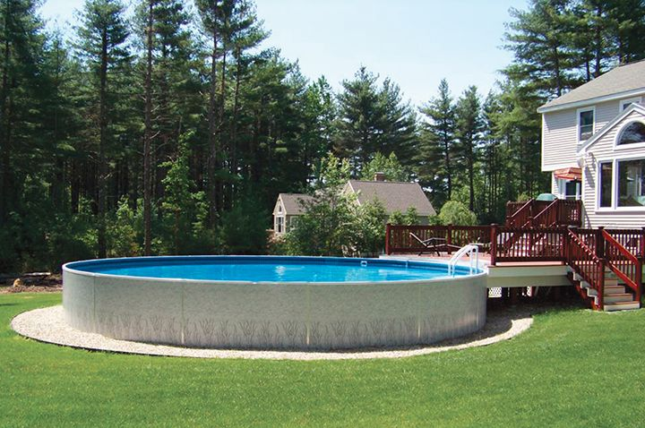 33 Aboveground Radiant Metric Round Pool With Deck In