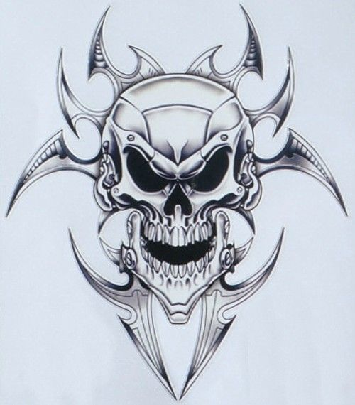 skull with flames adhesive stencils   Pin Decal Skull Decals For Motorcycles Printable Dragon Stencil on ...