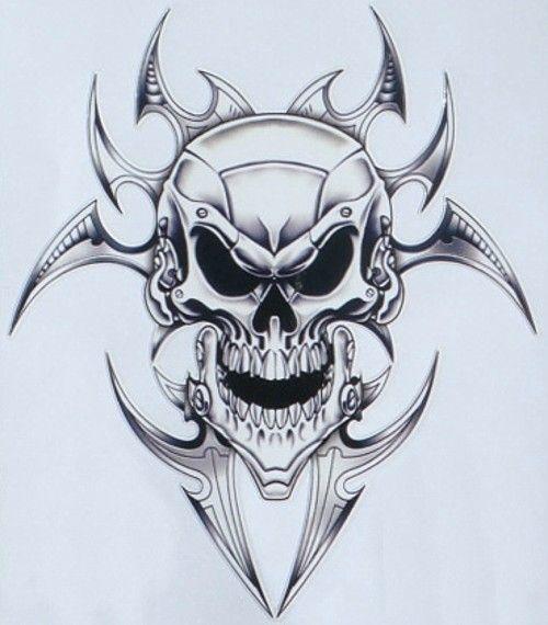 Best Skulls Images On Pinterest - Skull decals for motorcycles