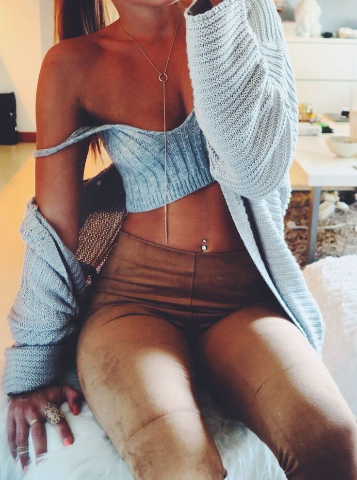 Christina Kovac Knit And Suede Outfit Idea