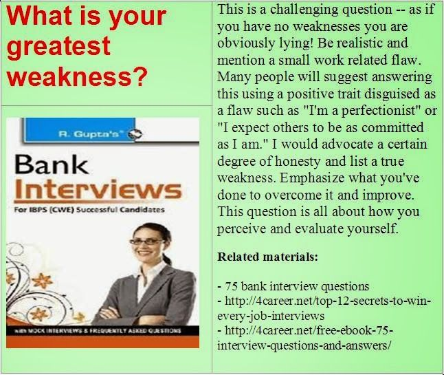 Related Materials: 75 Bank Interview Questions. Ebook:  Interviewquestionsebooks.com/download/. Job Interview AnswersJob ...