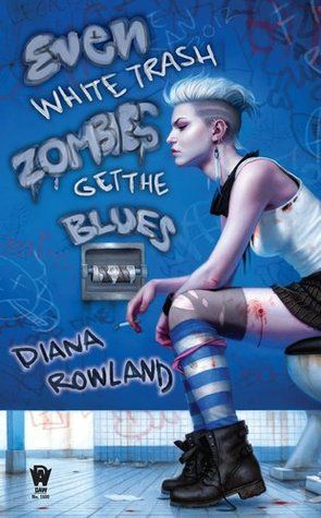 Best Female Cover Nominee, Best Urban Fantasy Cover Nominee - Even White Trash Zombies Get the Blues by Diana Rowland - Cover by Dan Dos Santos