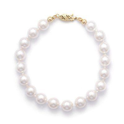 7 Inch 14k Yellow Gold 7.5-8mm (AA) Akoya Pearl Bracelet West Coast Jewelry. $255.95. Save 50%!
