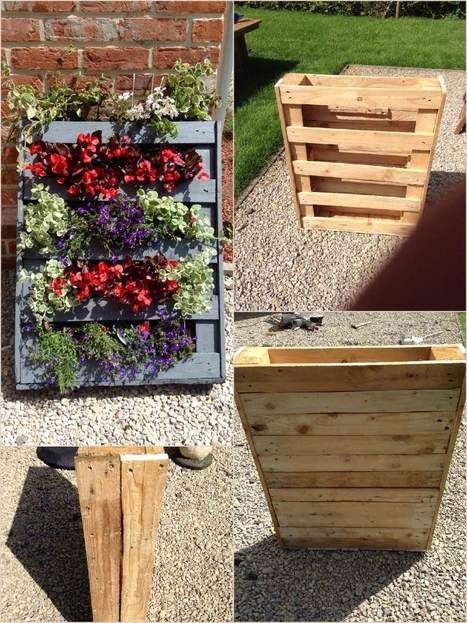 Homemade Vertical Pallet Planter | 1001 Pallets ideas ! | Scoop.it