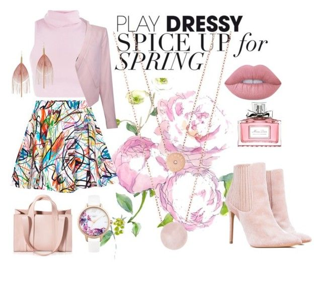 """That pink"" by sheliniap on Polyvore featuring Jeremy Scott, BCBGMAXAZRIA, Lime Crime, Serefina, Lipsy, Christian Dior, Corto Moltedo and Michael Kors"