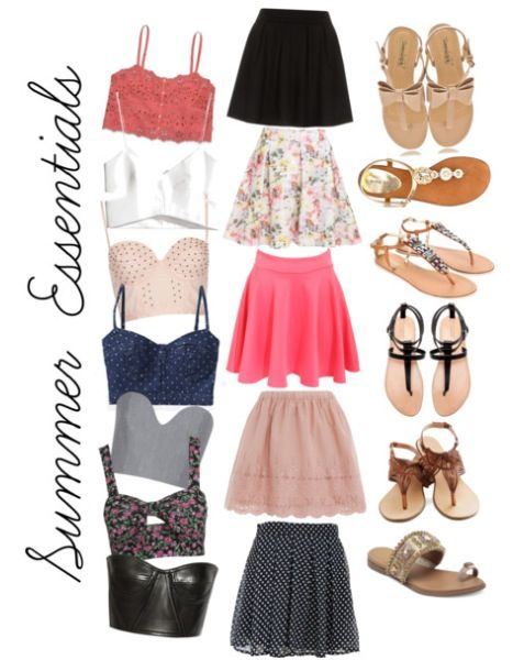 Skater skirt and crop top / bustier