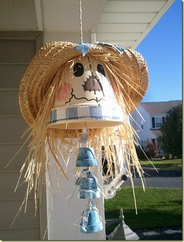 scarecrow wind chime