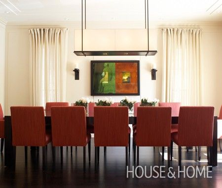 Dramatic Dining Room | Photo Gallery: Jennifer Worts Interiors | House & Home | Photo by Ted Yarwood