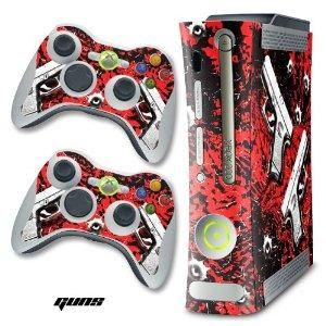 New XBOX 360 Console Protective Decal Skin - Glock Red
