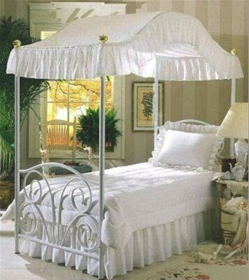 White Canopy Twin And Cove On Pinterest