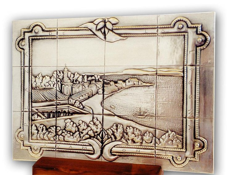 "SPANISH TILE 06 by arteymetal on deviantART Plaque inspired by a tile of a bench to  ""The Laguna Square"" from Ayamonte ""(Spain)."