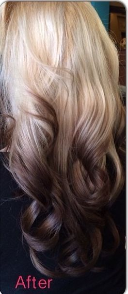 Reverse ombre. :) not so dark on the bottom and I would love it!