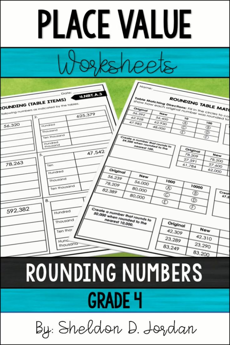 Place Value Worksheets Rounding Numbers 4th Grade