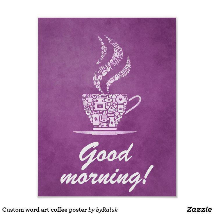 Custom word art coffee poster