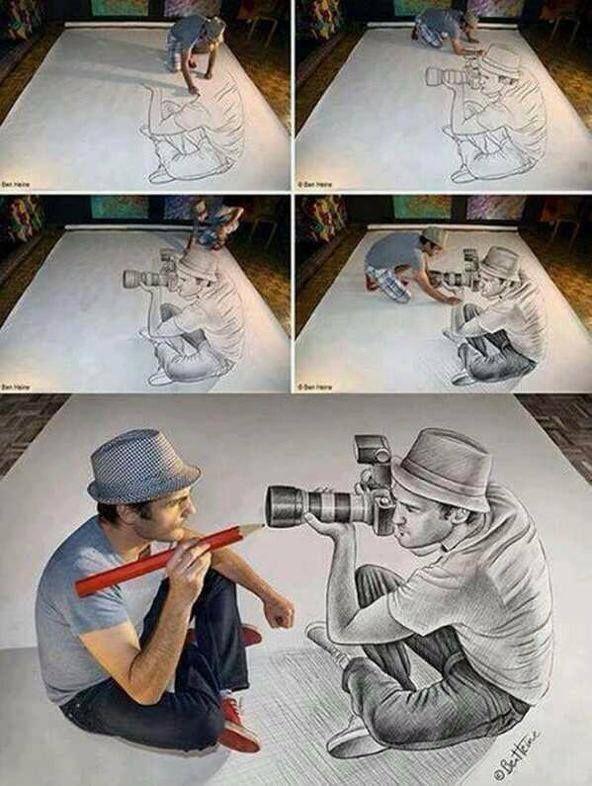 de nuevo, fácil de engañar al ojo humano.. Con un simple dibujo