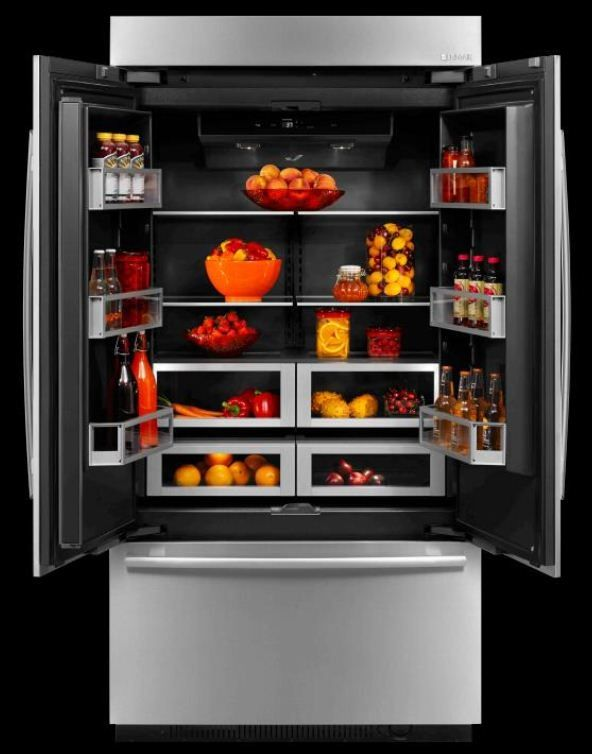 The Obsidian Built In Refrigerator By Jenn Air Features A Sleek New Black Interior Food Is