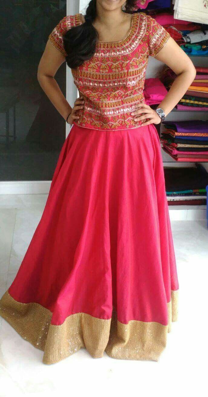 Indian Long Skirt And Blouse Designs   www.pixshark.com - Images Galleries With A Bite!