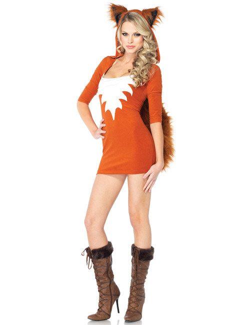 Sexy Fuchs Damen Kostüm rotbraun