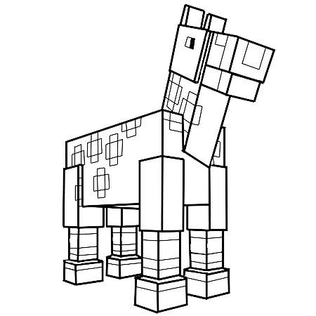 Dessin Le cheval de Minecraft a colorier