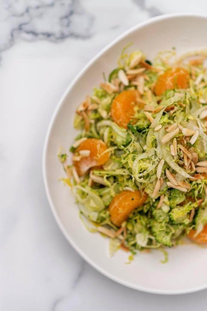 Raw Winter Salad with Mandarins