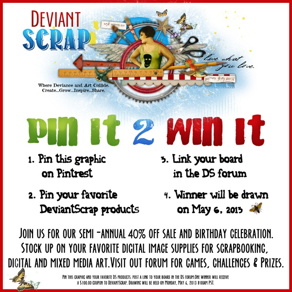 Contest - Pin It 2 Win It! - Deviant Scrap