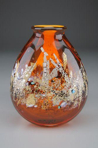 Sharon Fujimoto Hand Blown Art Glass - Vases