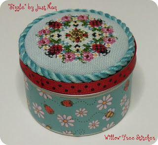 Just Nan cross stitch tin