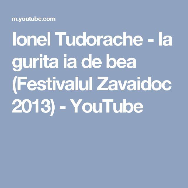 Ionel Tudorache - Ia gurita ia de bea (Festivalul Zavaidoc 2013) - YouTube