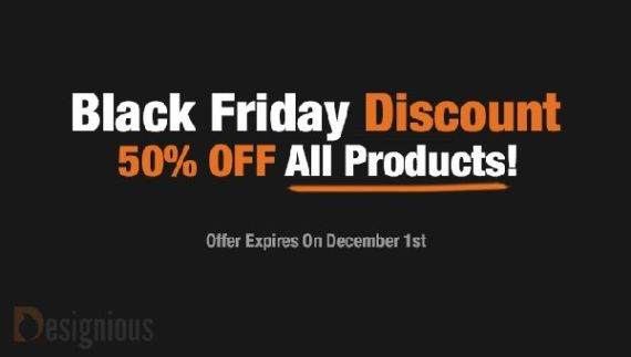 Looking for some incredible prices on premium vector graphics? Designious.com is having an incredible Black Friday Discount with 50% off any product available on their website! The discount is already applied, so you don't have to worry about coupons or anything else.