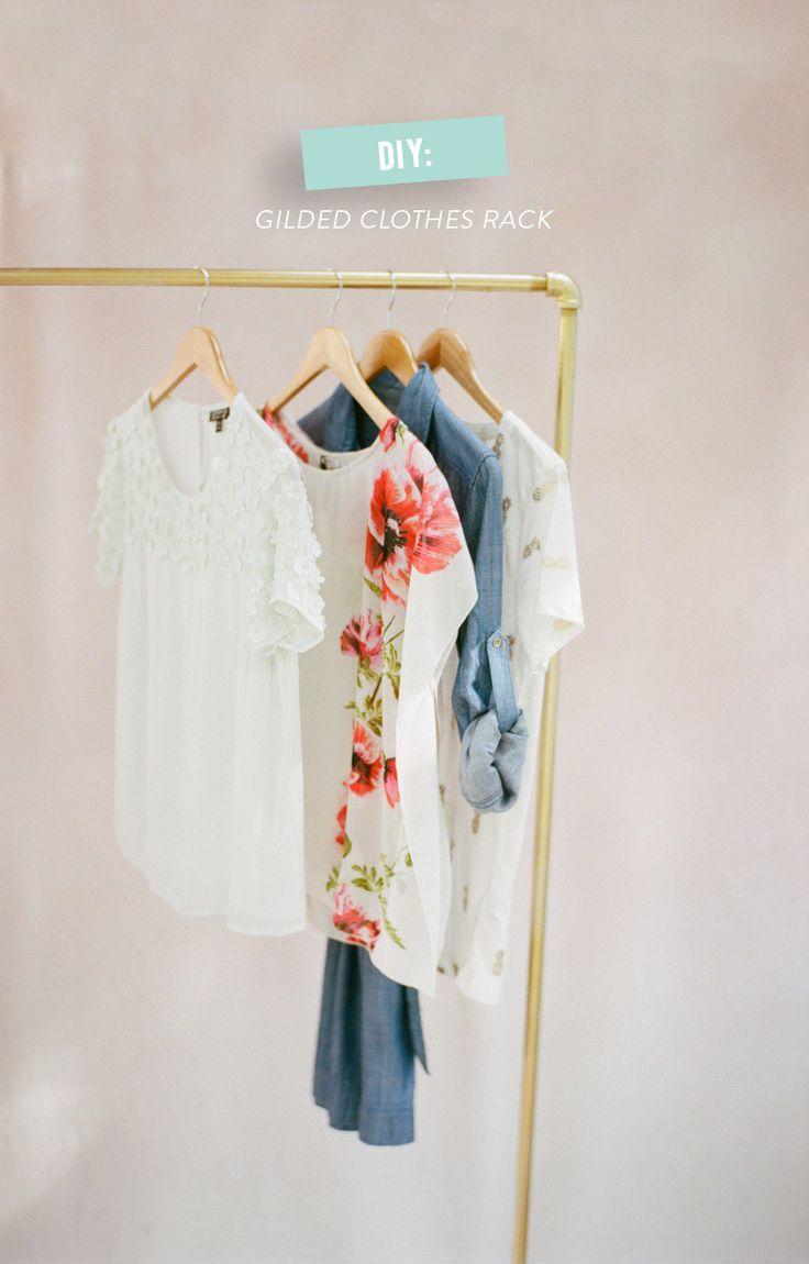 #DIY Gilded Clothes Rack