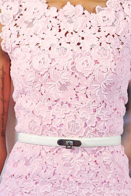 Oscar de la Renta Spring/Summer 2013: Spring Dresses, New Trends, Pink Dresses, Pastel Dresses, Pretty Pink, Pastel Pink, Pale Pink, Pink Lace Dresses, Love Lace