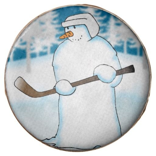 Face Off :- Snowman discovers that the lake has frozen and tries his hand at Ice Hockey. It could be a thin line (or thin ice) between pleasure and pain on this chocolate dipped Oreo cookie. #USA #icehockey #canada #hockey #puck #winter #holiday #holidays #sport #sports #stick #padded #padding #faceoff #helmet #snowfall #cold #frosty #ice #icy #snow #snowman #christmas #xmas #festive #seasonal #yuletide