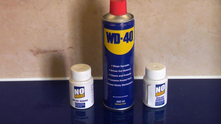 WD-40 versus silicone remover - for caulk remover