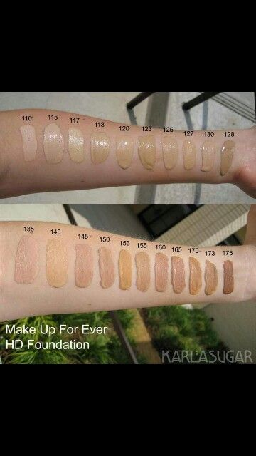 Shade chart!!  Makeup forever