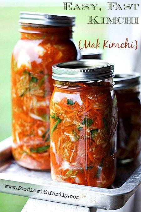Fácil, Rápido Kimchi Kimchi Mak {} en www.foodiewithfamily.com