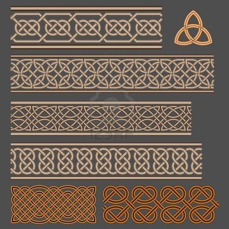 bordures de motifs celtiques