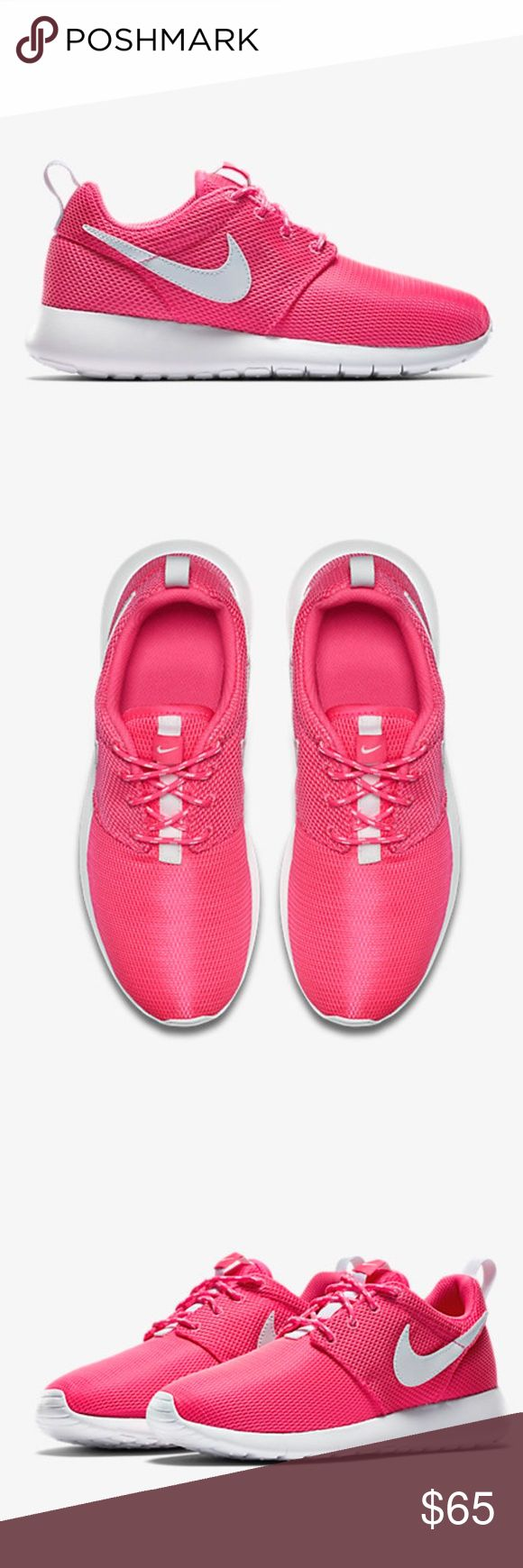 NIKE ROSHE ONE WOMENS PINK/ WHITE SHOES NEW Brand new without box. Shoes are a size 7 youth which converts to a women's size 8.5. I have added a sizing chart for your convenience. 100% authentic directly from Nike. Ships out same day or very next. Nike Shoes Sneakers
