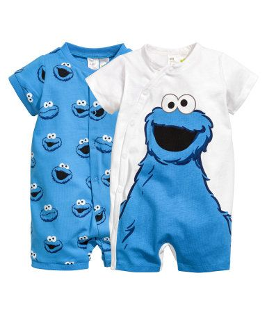 ed48c67af 2-pack all-in-one pyjamas | Blue/Sesame Street | KIDS | H&M NZ | Son ...