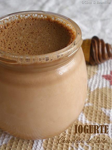 Coco e Baunilha: Iogurte de Chocolate de Leite
